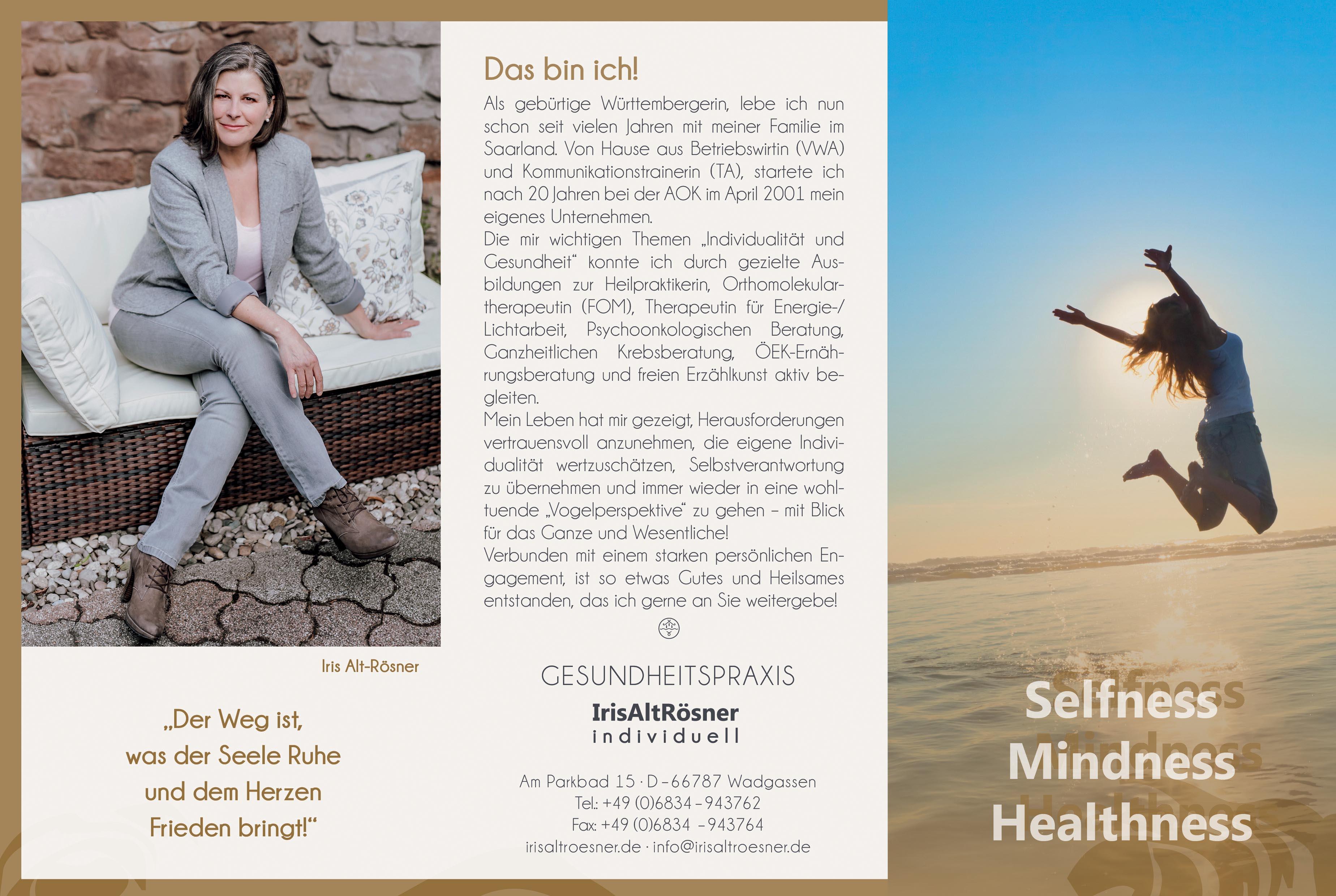 Flyer Selfness, Mindness, Healthness