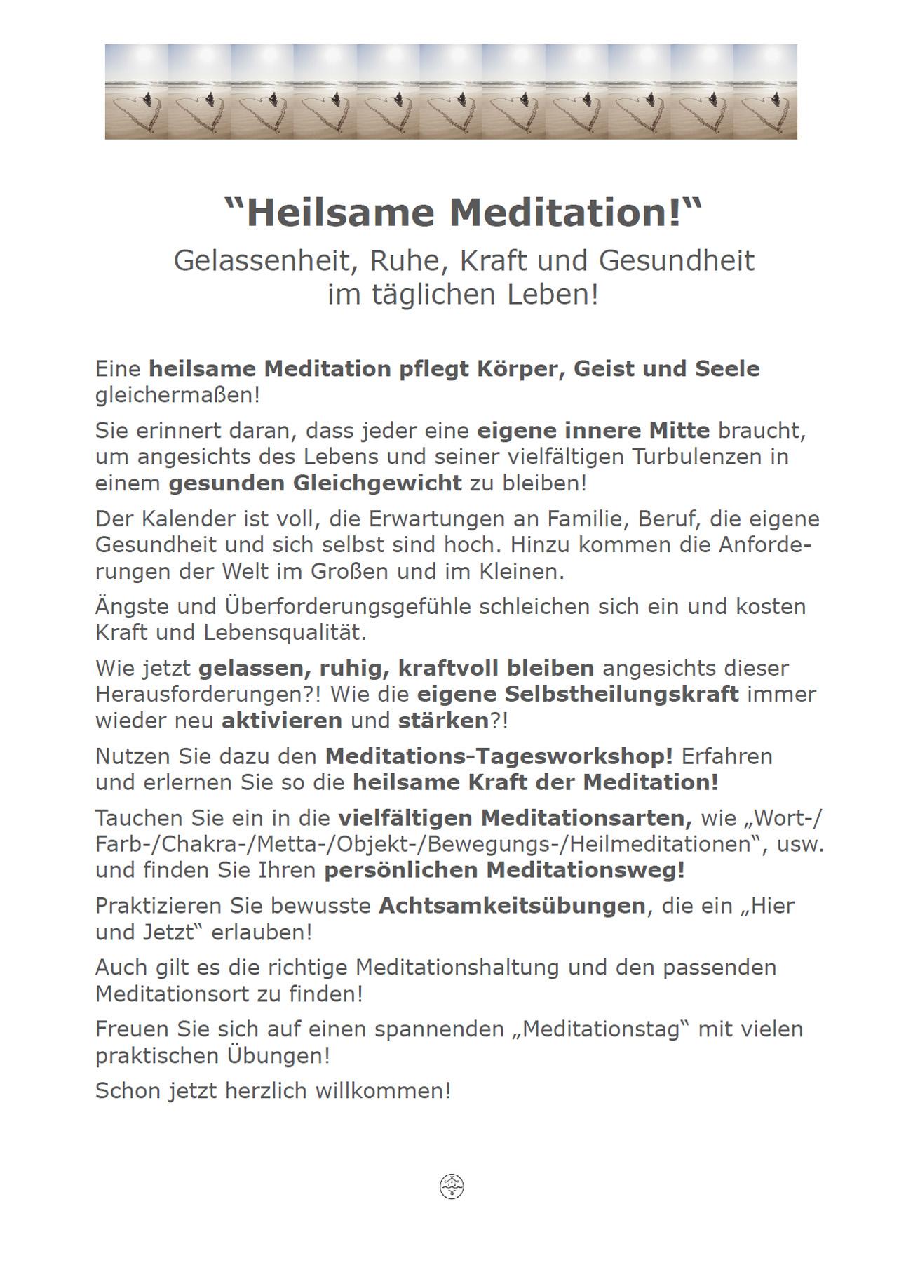 Heilsame Meditation